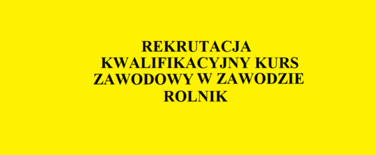 REKRUTACJA ROLNIK